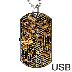 Queen Cup Honeycomb Honey Bee Dog Tag Usb Flash (one Side)