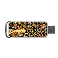 Queen Cup Honeycomb Honey Bee Portable Usb Flash (two Sides)