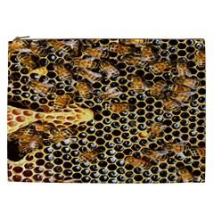 Queen Cup Honeycomb Honey Bee Cosmetic Bag (xxl)