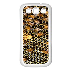Queen Cup Honeycomb Honey Bee Samsung Galaxy S3 Back Case (white)