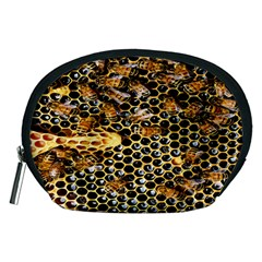 Queen Cup Honeycomb Honey Bee Accessory Pouches (medium)