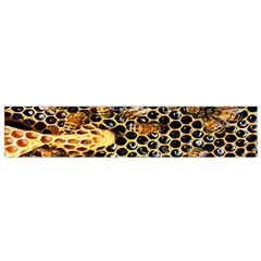Queen Cup Honeycomb Honey Bee Flano Scarf (small)