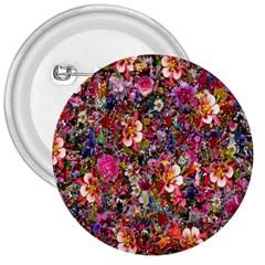 Psychedelic Flower 3  Buttons