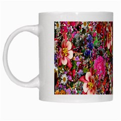 Psychedelic Flower White Mugs