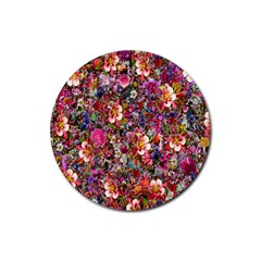 Psychedelic Flower Rubber Round Coaster (4 Pack)