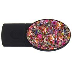 Psychedelic Flower Usb Flash Drive Oval (2 Gb)