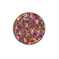 Psychedelic Flower Hat Clip Ball Marker (4 Pack)