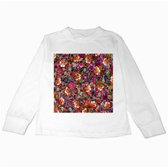 Psychedelic Flower Kids Long Sleeve T Shirts