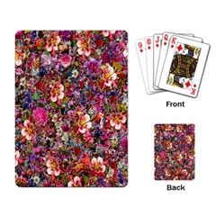 Psychedelic Flower Playing Card