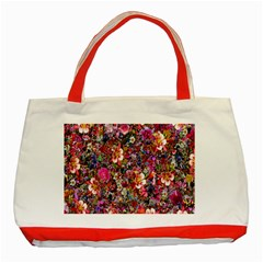 Psychedelic Flower Classic Tote Bag (red)