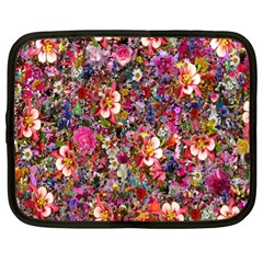 Psychedelic Flower Netbook Case (xl)