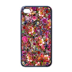 Psychedelic Flower Apple Iphone 4 Case (black)
