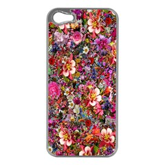 Psychedelic Flower Apple Iphone 5 Case (silver)