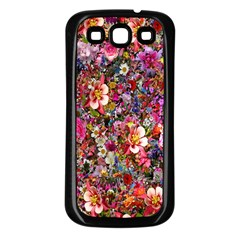Psychedelic Flower Samsung Galaxy S3 Back Case (black)