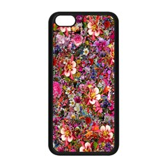 Psychedelic Flower Apple Iphone 5c Seamless Case (black)