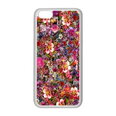 Psychedelic Flower Apple Iphone 5c Seamless Case (white)