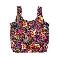 Psychedelic Flower Full Print Recycle Bags (m)