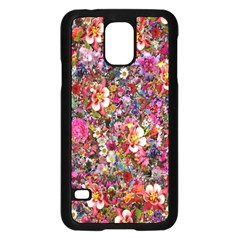 Psychedelic Flower Samsung Galaxy S5 Case (black)