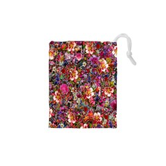 Psychedelic Flower Drawstring Pouches (xs)