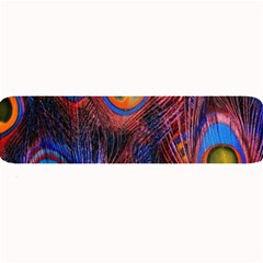 Pretty Peacock Feather Large Bar Mats