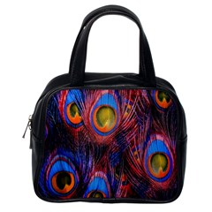 Pretty Peacock Feather Classic Handbags (one Side)