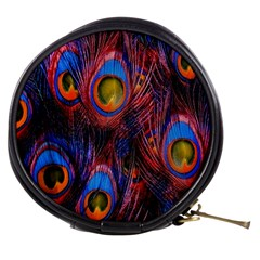 Pretty Peacock Feather Mini Makeup Bags