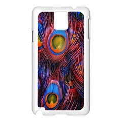 Pretty Peacock Feather Samsung Galaxy Note 3 N9005 Case (white)