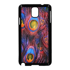 Pretty Peacock Feather Samsung Galaxy Note 3 Neo Hardshell Case (black)