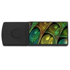 Psytrance Abstract Colored Pattern Feather Rectangular Usb Flash Drive