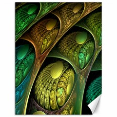 Psytrance Abstract Colored Pattern Feather Canvas 12  X 16
