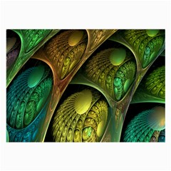 Psytrance Abstract Colored Pattern Feather Large Glasses Cloth