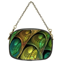 Psytrance Abstract Colored Pattern Feather Chain Purses (one Side)