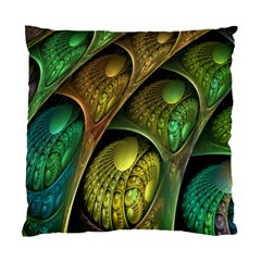 Psytrance Abstract Colored Pattern Feather Standard Cushion Case (one Side)
