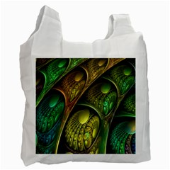 Psytrance Abstract Colored Pattern Feather Recycle Bag (one Side)