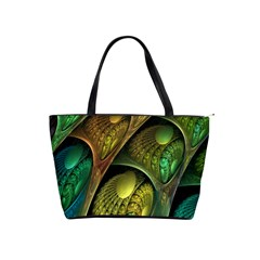 Psytrance Abstract Colored Pattern Feather Shoulder Handbags