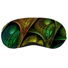 Psytrance Abstract Colored Pattern Feather Sleeping Masks