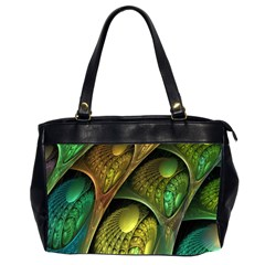 Psytrance Abstract Colored Pattern Feather Office Handbags (2 Sides)