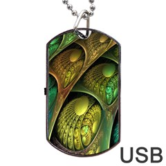 Psytrance Abstract Colored Pattern Feather Dog Tag Usb Flash (two Sides)