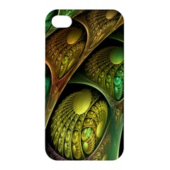 Psytrance Abstract Colored Pattern Feather Apple Iphone 4/4s Hardshell Case