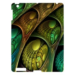 Psytrance Abstract Colored Pattern Feather Apple Ipad 3/4 Hardshell Case