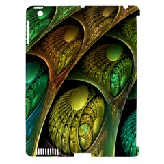 Psytrance Abstract Colored Pattern Feather Apple Ipad 3/4 Hardshell Case (compatible With Smart Cover)