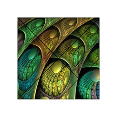 Psytrance Abstract Colored Pattern Feather Acrylic Tangram Puzzle (4  X 4 )
