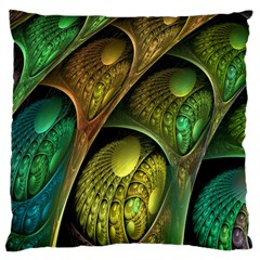 Psytrance Abstract Colored Pattern Feather Large Cushion Case (two Sides)