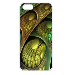 Psytrance Abstract Colored Pattern Feather Apple Iphone 5 Seamless Case (white)