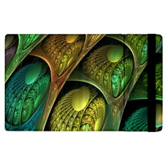 Psytrance Abstract Colored Pattern Feather Apple Ipad 3/4 Flip Case