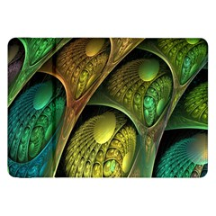 Psytrance Abstract Colored Pattern Feather Samsung Galaxy Tab 8 9  P7300 Flip Case