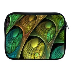 Psytrance Abstract Colored Pattern Feather Apple Ipad 2/3/4 Zipper Cases