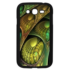 Psytrance Abstract Colored Pattern Feather Samsung Galaxy Grand Duos I9082 Case (black)