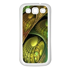 Psytrance Abstract Colored Pattern Feather Samsung Galaxy S3 Back Case (white)