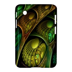 Psytrance Abstract Colored Pattern Feather Samsung Galaxy Tab 2 (7 ) P3100 Hardshell Case